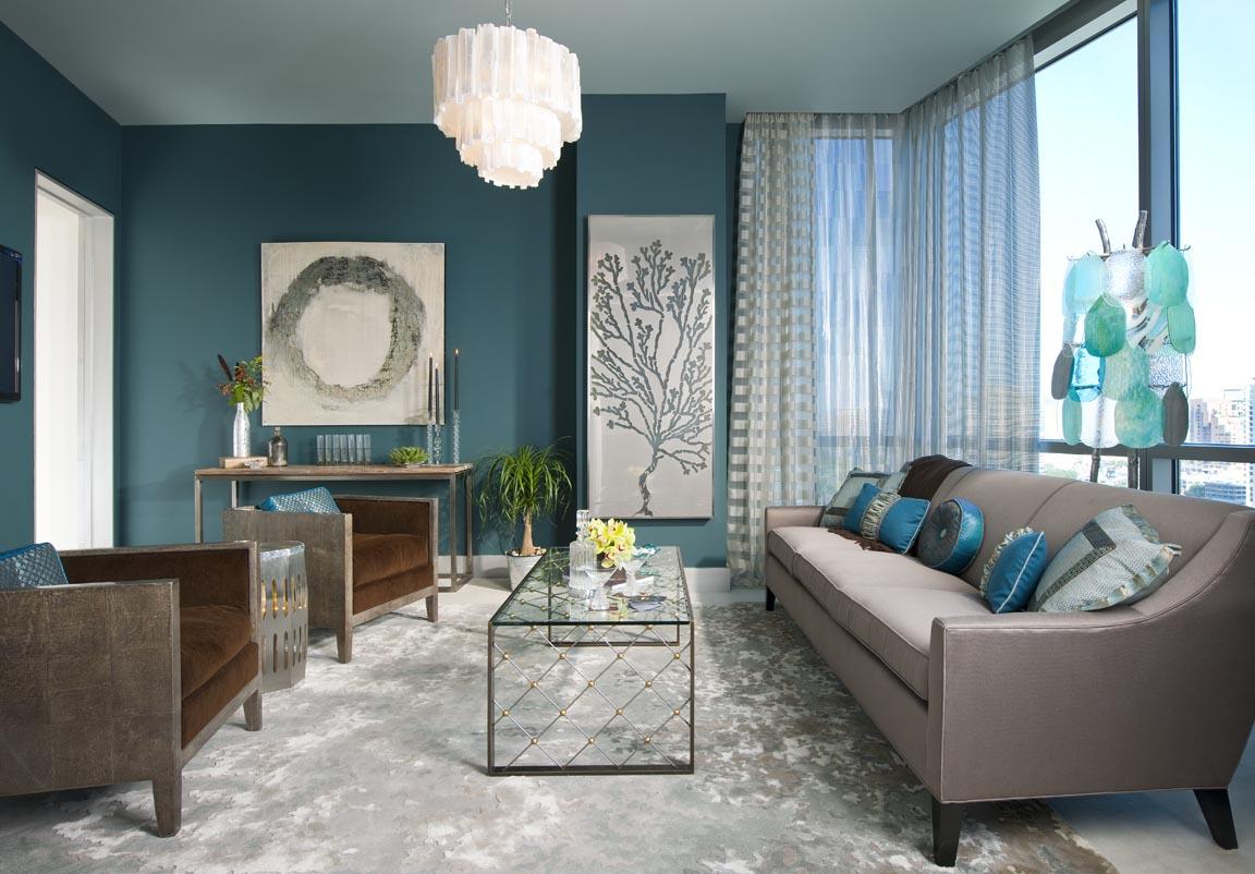 Le bleu dans la décoration intérieure